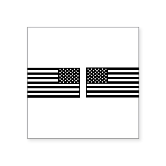 black and clear IR flag right and left