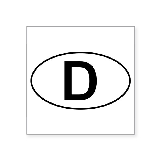 D - German Oval Sticker