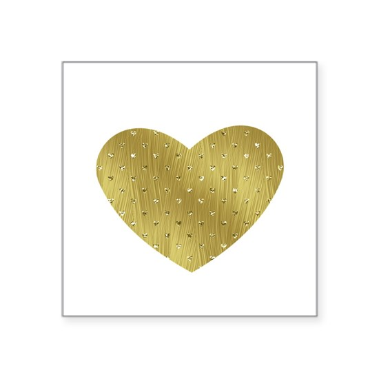 Gold Bling Heart