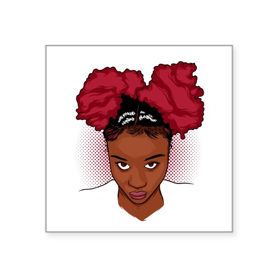 CurlyGirl Kinky Natural Hair Afro Puff