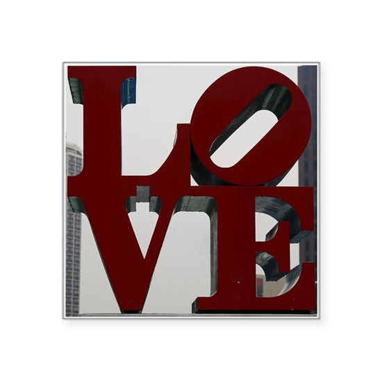 LOVE Square Sticker 3