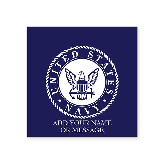 PERSONALIZED US Navy Blue White