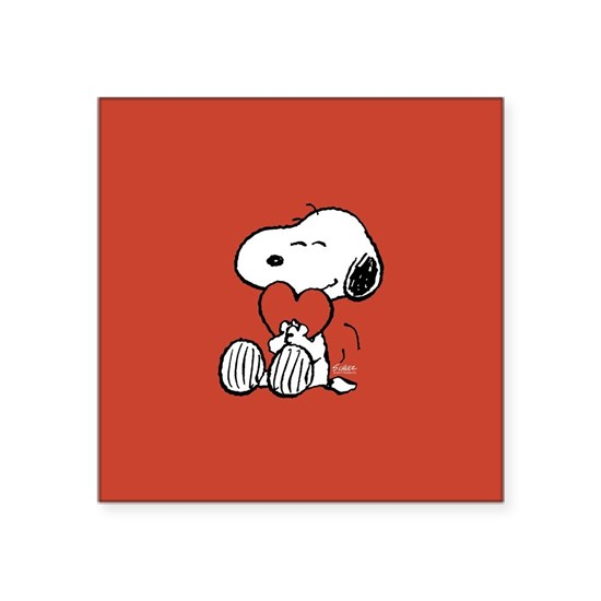 Snoopy Hugs Heart
