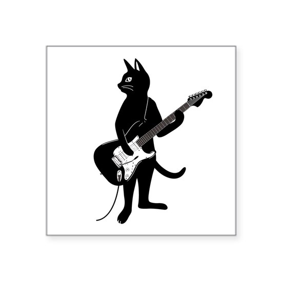 Cat Playing The Electric Guitar