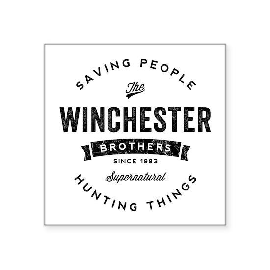 SUPERNATURAL Winchester Bros black