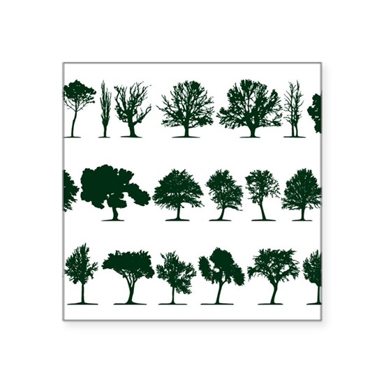 Tree Silhouettes Green 1