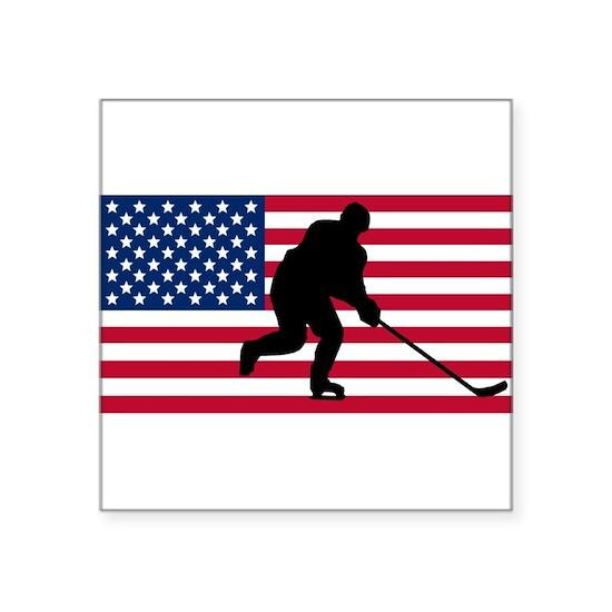 Hockey American Flag