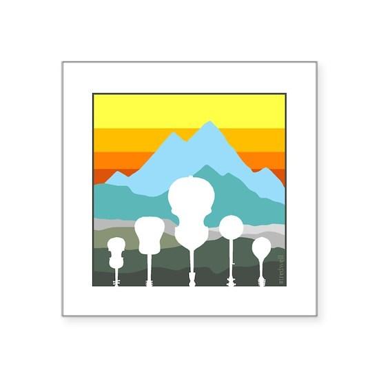 mountain music color transparent