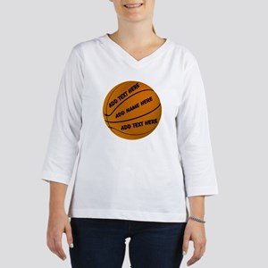 Personalized Basketball 3/4 Sleeve T-shirt