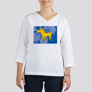 Horse Glass Cutting Board Large 3/4 Sleeve T-shirt