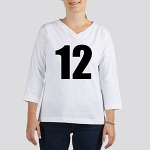 Number 12 3/4 Sleeve T-shirt