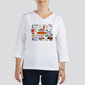 Friends TV Show Collage 3/4 Sleeve T-shirt