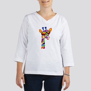 Giraffe in Sunglasses 3/4 Sleeve T-shirt