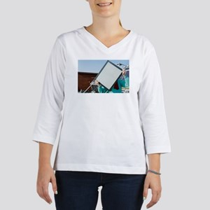 Woman holding an Interpane ther 3/4 Sleeve T-shirt