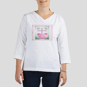 b7ec32e9274a First Communion PINK POSTAGE 3 4 Sleeve T-shirt