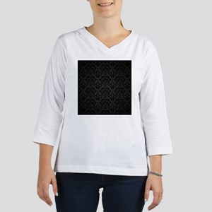 Elegant Black Women's Long Sleeve Shirt (3/4 Sleev