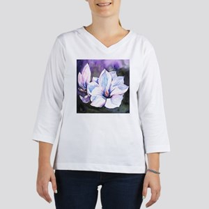 Magnolia Painting Women's Long Sleeve Shirt (3/4 S