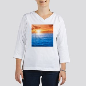 Ocean Sunset Women's Long Sleeve Shirt (3/4 Sleeve