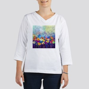 Floral Painting 3/4 Sleeve T-shirt