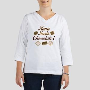 Nana Chocolate 3/4 Sleeve T-shirt
