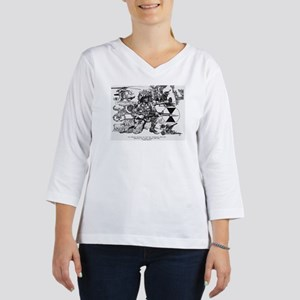 Large Frame Print 3/4 Sleeve T-shirt