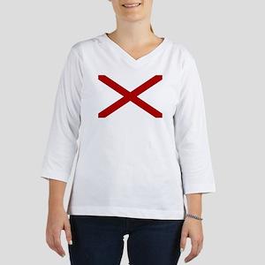 Alabama State Flag 3/4 Sleeve T-shirt