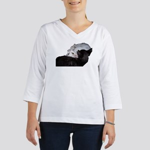 Cat-Wrap-1 3/4 Sleeve T-shirt