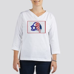 Stand With Israel -Yardsign 3/4 Sleeve T-shirt