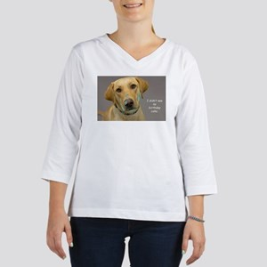Yellow Lab Cake Face Birthday 3/4 Sleeve T-shirt