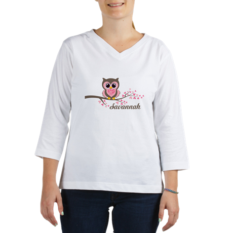 Custom Valentines Day owl 3/4 Sleeve T-shirt