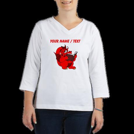 Custom Red Dragon Reading Women's Long Sleeve Shir