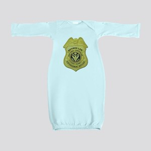 retired law enf officer Baby Gown