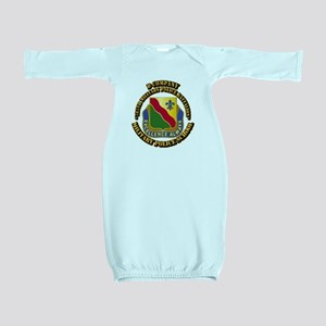 DUI - D Company - 787th MPB w Text Baby Gown