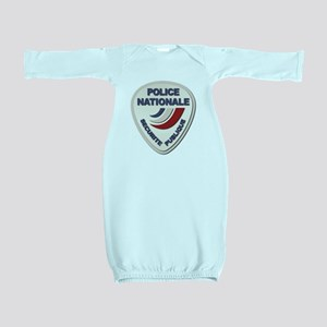 Police Nationale France Police without T Baby Gown