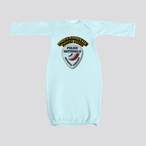 Police Nationale France Police with Text Baby Gown