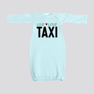Live Love Taxi Baby Gown