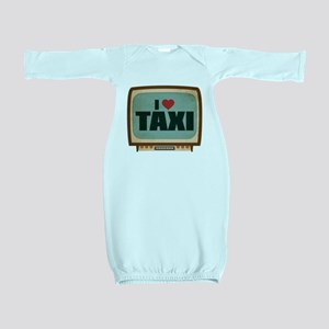 Retro I Heart Taxi Baby Gown