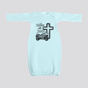 Riding with Jesus Baby Gown