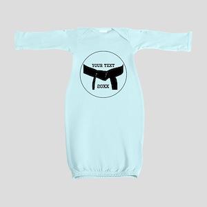 Custom Martial Arts Black Belt Baby Gown