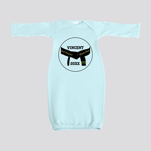 Martial Arts 2nd Degree Black Belt Baby Gown