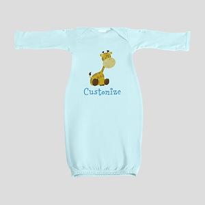 Custom Baby Giraffe Baby Gown