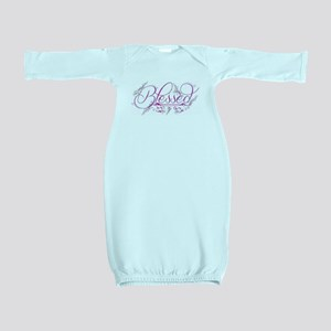 Blessed fuchsia flourish Baby Gown