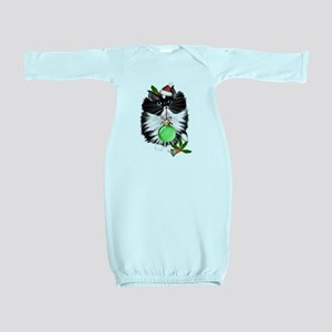 A Tuxedo Merry Christmas Baby Gown
