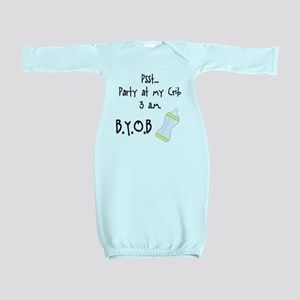 Party at my Crib BYOB Baby Gown