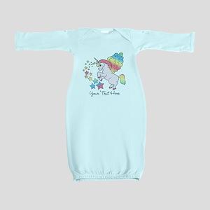 Unicorn Rainbow Star Baby Gown