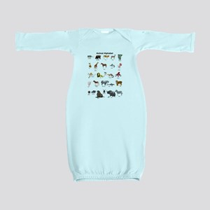 Animal pictures alphabet Baby Gown