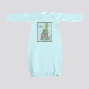 Vintage Map of New Hampshire (1827) Baby Gown