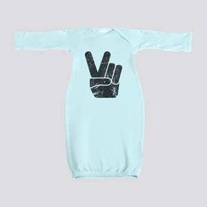 Vintage Peace Sign Baby Gown