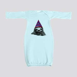 Party Sloth Baby Gown