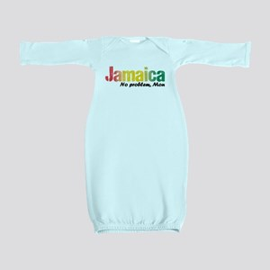 Jamaica No Problem tri Baby Gown
